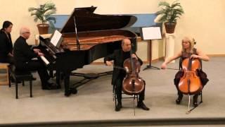 Shostakovich - Prelude for 2 Cellos- Elvira Lagji & Ilir Merxhushi- Cellos, Winfried Rompf - Piano