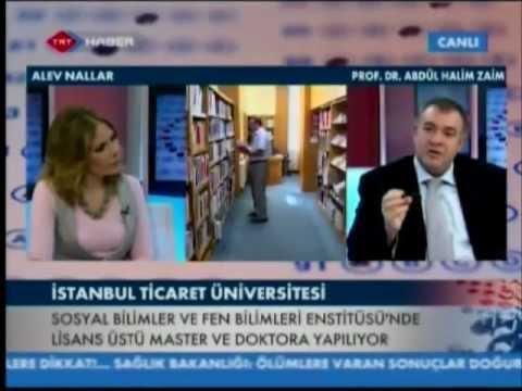 İstanbul Ticaret Üniversitesi - Prof. Dr. A. Halim Zaim, 'Akıllı Tercih' Programı