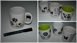 DIY: How to decorate a mug with permanent marker