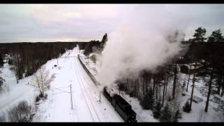 Höyryjuna Ukko-Pekka Hiirolassa