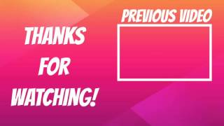 Free Outro Template NO TEXT (NEW: Download link in desc.)