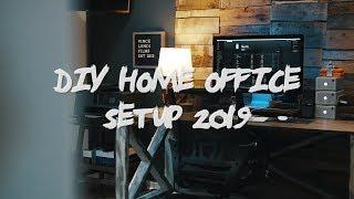 DIY Home Office Setup 2019 - Building My Dream Office