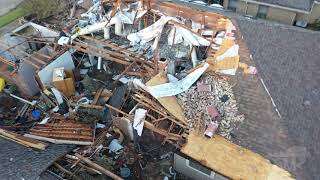10-21-2019 Richardson, Tx significant tornado damge, homes destroyed drone aerial