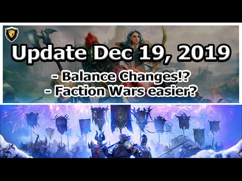 RAID Shadow Legends | Update Dec 19, 2019 | Balance Changes?!