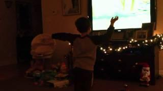 Nicholas dancing with Angelina Ballerina
