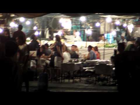 モロッコ マラケシュ フナ広場の夜