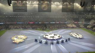 Ambiance + tifo start final champions league Juventus Real Madrid