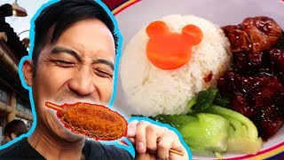Ew! HAIRY Hotdogs & EVERY food you can get at Shanghai Disneyland | China Vlog Tour