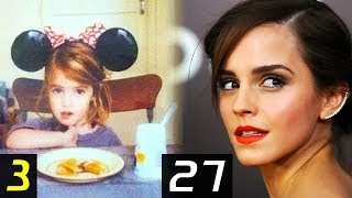 EMMA WATSON Transformation - From 3 To 27 Years | Then and Now | Childhood | Before famous | After