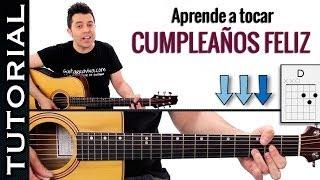como tocar CUMPLEAÑOS FELIZ en guitarra fácil! canción facil guitarra cumpleaños