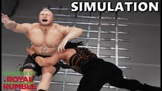 WWE 2K18 SIMULATION: ROMAN REIGNS VS BROCK LESNAR | GREATEST ROYAL RUMBLE HIGHLIGHTS