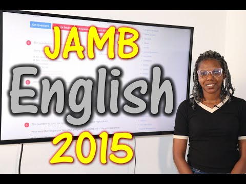 JAMB CBT English 2015 Past Questions 1 - 20