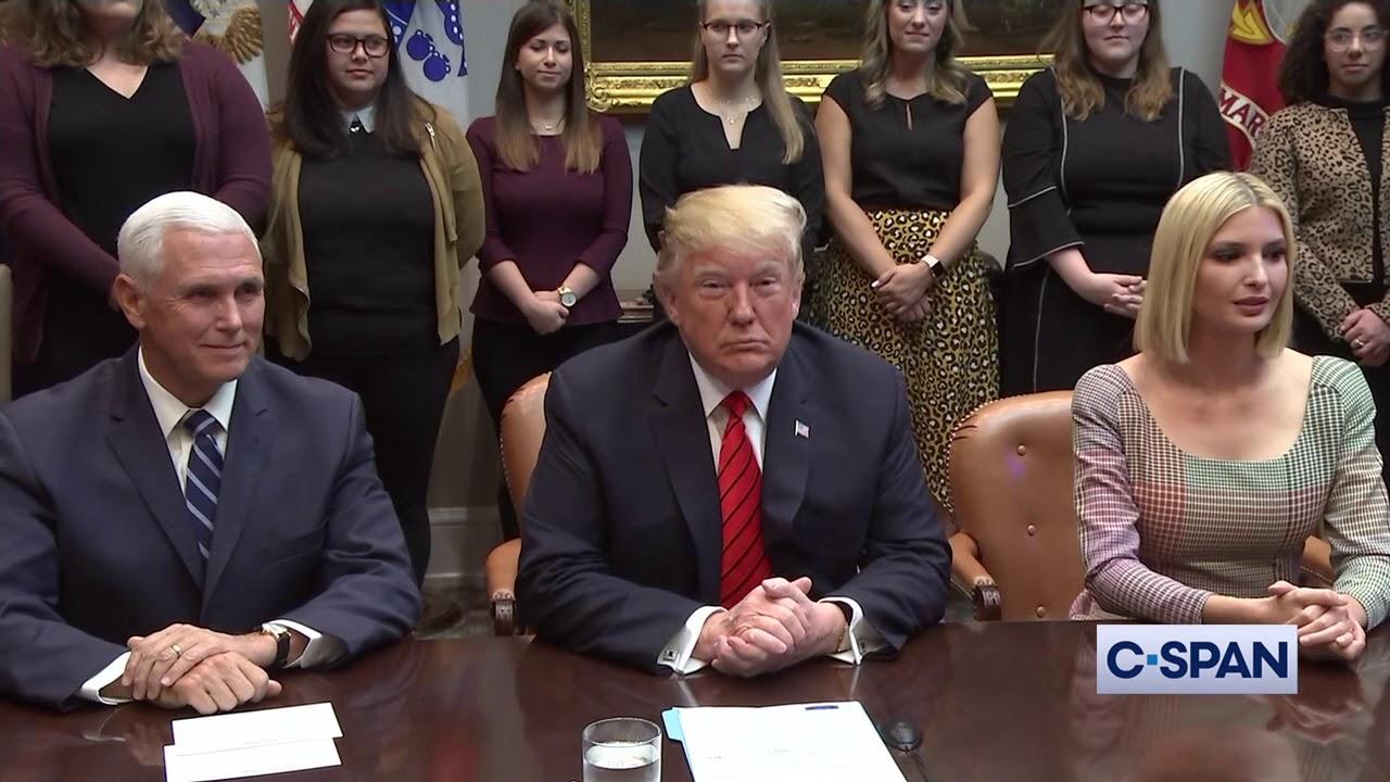 President Trump speaks to Astronauts during Spacewalk