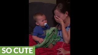 Baby cries whenever his mom cries