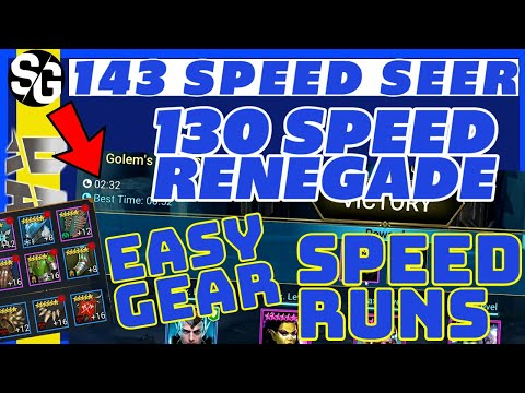 RAID SHADOW LEGENDS | SEER 143speed - Renegade 130speed | YOU CAN DO IT TOO!