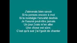 François Lachance - Sur le seuil (Lyrics)