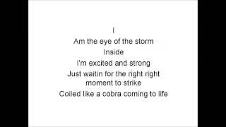 Eye of the storm - Lyrics