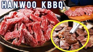 KOREAN BBQ and STREET FOOD at Haeundae Traditional Market in Busan South Korea width=