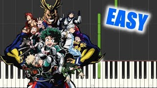 Boku no Hero Academia - Peace Sign (Season 2 OP) - EASY Piano Tutorial / ピースサイン【ピアノ簡単】僕のヒーローアカデミア