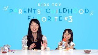 Suvi Tries Her Mom's Favorite Childhood Snack   Kids Try   HiHo Kids