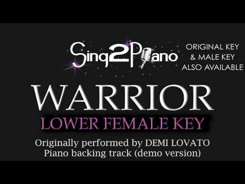 Warrior Demi Lovato Lower Female Key Karaoke Version Chords