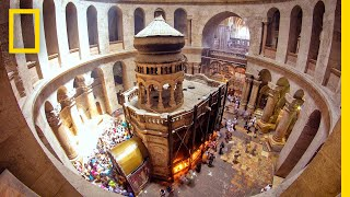 Experience the Tomb of Christ Like Never Before | National Geographic width=