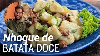 Nhoque de Batata Doce com Bacon - Web à Milanesa