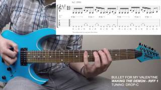 Bullet For My Valentine - Waking The Demon - Riff 1 (Lesson & TAB)