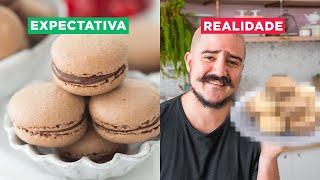 MACARON DE CHOCOLATE TRUFADO DA DANI: EXPECTATIVA VS. REALIDADE   BIGODE NA COZINHA