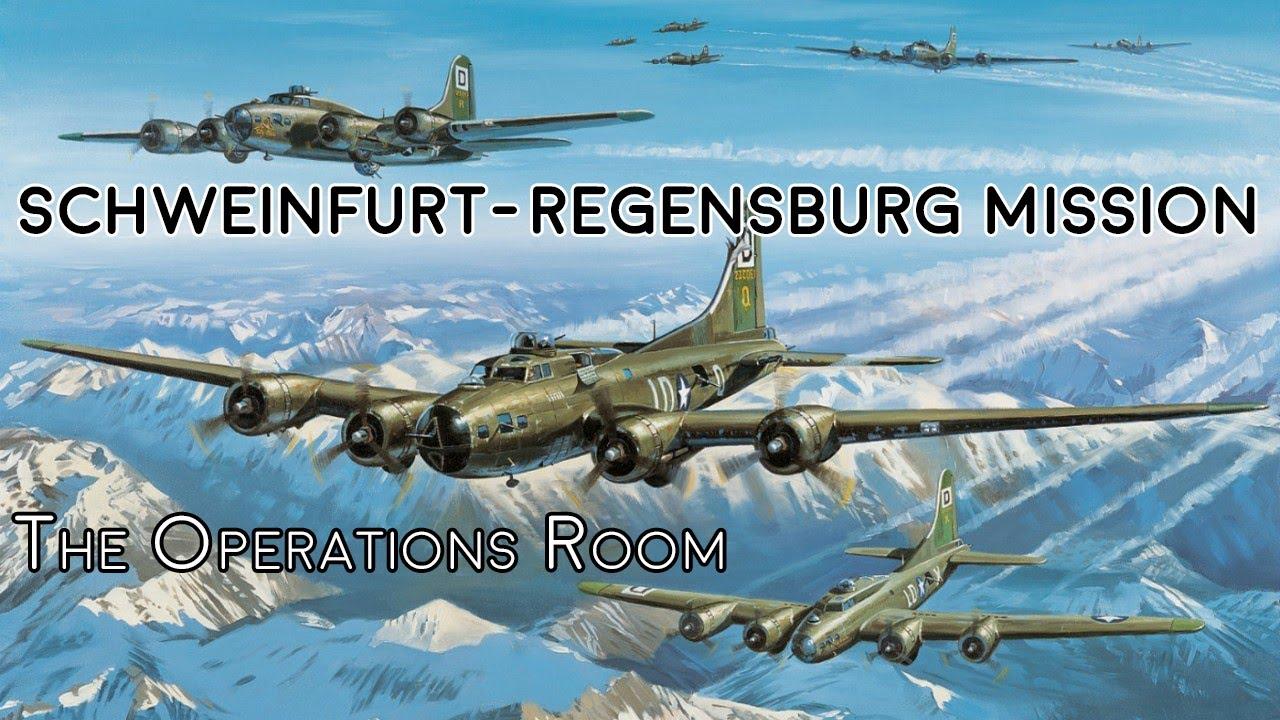 Allied Bombers - Schweinfurt-Regensburg Mission WW2- Time-Lapse