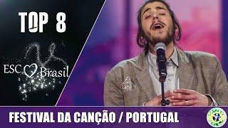 TOP 8 || Festival da Canção (Portugal) 2017