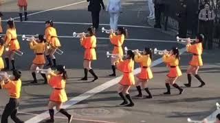 Kyoto Tachibana High School Green Band at the 2018 Rose Parade