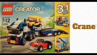 Lego Creator 31033 Vehicle Transporter  Part 2 - Crane