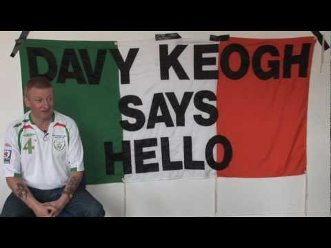 Heading to the Euros – Irish superfan Davy Keogh says hello