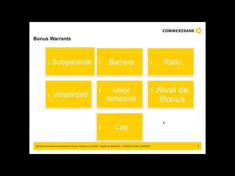 Mercado de productos estructurados en Europa, los Bonus y los RCBs. Consejos de negociación