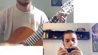 Kill Bill - The Lonely Shepherd, self duet (guitar+ocarina)