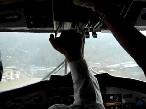 Dangerous Landing at Lukla, Tenzing-Hillary Airport, the gateway to the everest Region