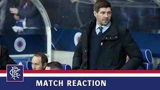 REACTION | Steven Gerrard | Rangers 1-1 Hibs