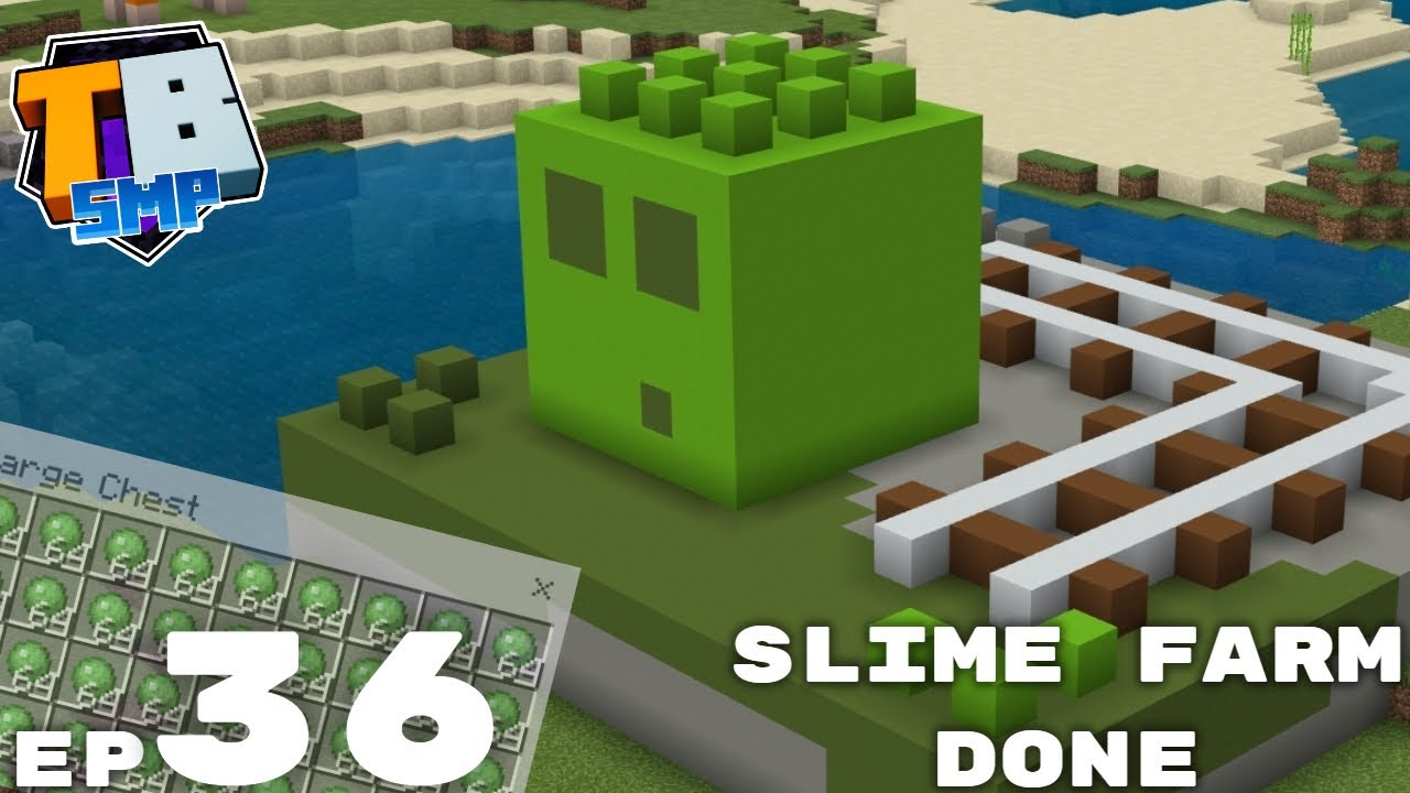 Tizztom - SIMPLE SLIME FARM IS FINISHED! - Truly Bedrock Season 2 Episode 36