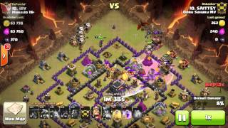 TH9 3 STAR WAR ATTACK | LAVADRAGLOON on Clash of Clans.