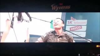 화재의 문학구장 군인 TWICE-cheer up(feat.치어리더ㅋㅋ)트와이스~~치얼업