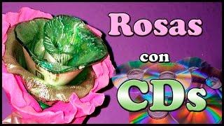 CD Reciclado / Como hacer una rosa con un CD