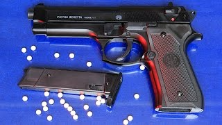 Beretta model 92 FS airsoft spring pistol - review and shooting test