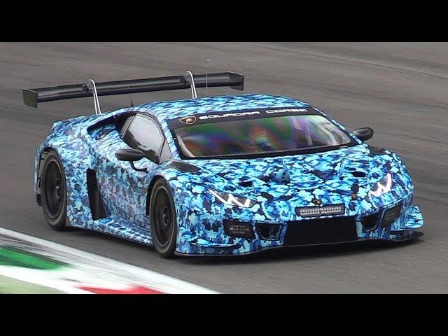 2019 Lamborghini Huracán GT3 EVO in action testing New Front Aero!