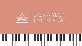 백아연 - 그냥 한번 (feat. JB of GOT7) (Just Because) Piano Cover