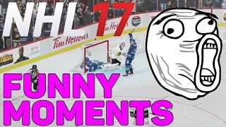 NHL 17 - FUNNIEST MOMENTS OF THE YEAR! (2016)