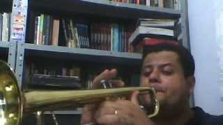 Harpa Cristã  - Hino 01 - Chuvas de Graça - Trompete Sib - Músico: Hermom Leal