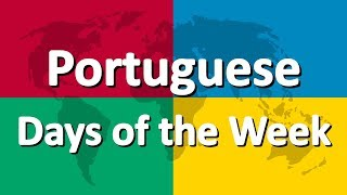 Learn Portuguese | Days of the Week