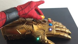 Spiderman Far From Home Unboxing Realife THANOS INFINITY GAUNTLET