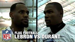 Team LeBron James vs Team Kevin Durant Flag Football Game Highlights | NFL